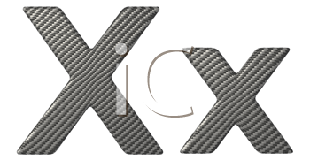 Royalty Free Clipart Image of a Capital and Lowercase X