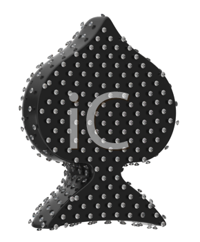 Royalty Free Clipart Image of a Diamond Encrusted Spade