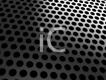 Royalty Free Clipart Image of a Close-up of a Black Grill