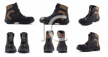 Royalty Free Clipart Image of Winter Boots
