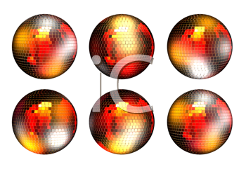 Royalty Free Clipart Image of Disco Balls