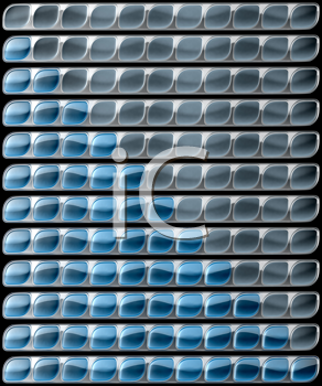 Royalty Free Clipart Image of Blue Download and Upload Bars