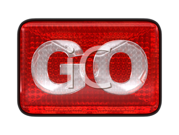 Royalty Free Clipart Image of a Go Headlight