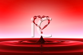 Royalty Free Clipart Image of Heart Shaped Water Drops