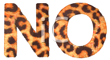 Royalty Free Clipart Image of Leopard Print N and O
