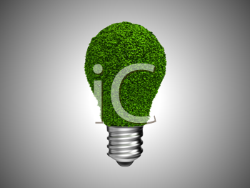 Royalty Free Clipart Image of a Nature Light Bulb