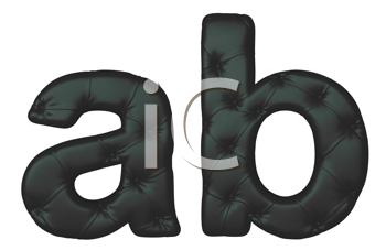 Royalty Free Clipart Image of Black Leather Font A and B
