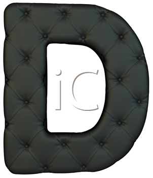 Royalty Free Clipart Image of a Black Leather Font D