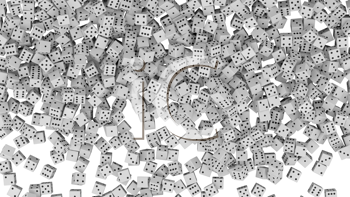 Royalty Free Clipart Image of a Background of Dice