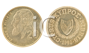 Royalty Free Clipart Image of Money of Cyprus