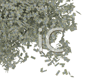Royalty Free Clipart Image of American Money Falling