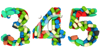 Royalty Free Clipart Image of Pharmaceutical Numerals