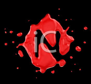 Royalty Free Clipart Image of the Letter N in Red Paint