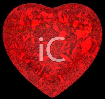 Royalty Free Clipart Image of a Crystal Heart