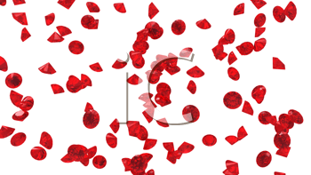 Royalty Free Clipart Image of a Red Diamond Background