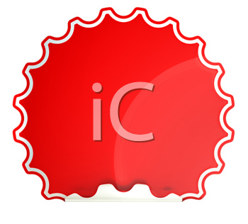 Royalty Free Clipart Image of a Red Sticker