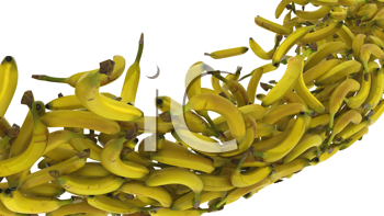 Royalty Free Clipart Image of a Banana Background