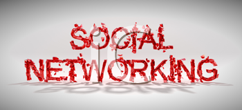 Royalty Free Clipart Image of the Words Social Networking