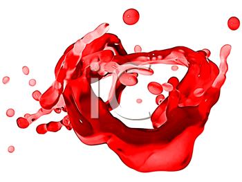 Royalty Free Clipart Image of a Splash of Red Wine