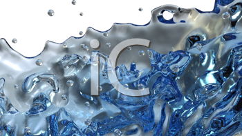 Royalty Free Clipart Image of Splashes of Water