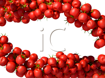 Royalty Free Clipart Image of a Cherry Tomato Background