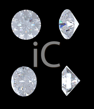 Royalty Free Clipart Image of Diamonds