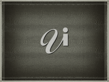 Black mock croc or alligator skin background with stitched gray border frame. Useful for fashion and business