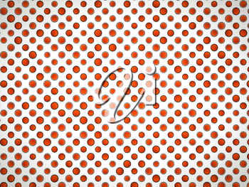 Polka dot pattern with red circles on white. Large resolution