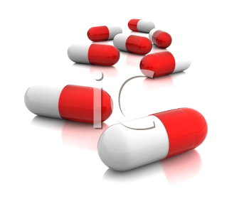 Royalty Free Clipart Image of Capsules