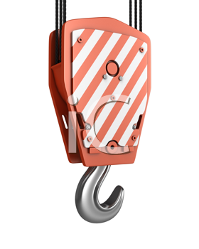 Royalty Free Clipart Image of a Crane Hook