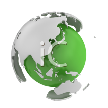 Royalty Free Clipart Image of an Abstract Globe