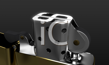 Royalty Free Clipart Image of a Lighter With a Dollar Sign on Top