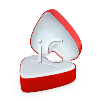 Royalty Free Clipart Image of a Heart Shaped Jewellery Box
