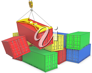 Accident on container transportation