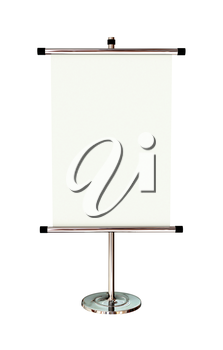 Blank banner stand isolated on white background. 3d rendering