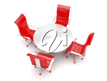 Royalty Free Clipart Image of Chairs Around a Table