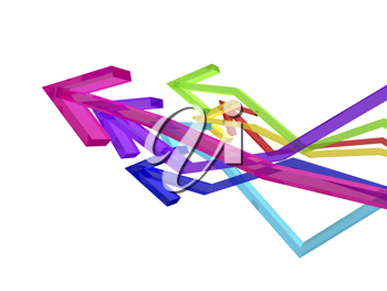 Royalty Free Clipart Image of Coloured Arrows