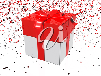 Royalty Free Clipart Image of a Gift Background
