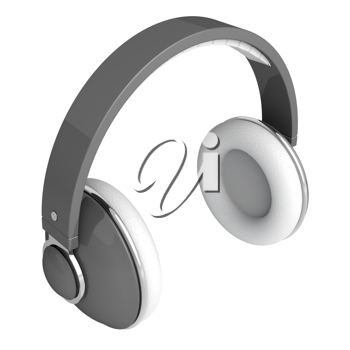 Royalty Free Clipart Image of a Set of Headphones