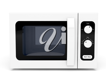Royalty Free Clipart Image of a Microwave Oven