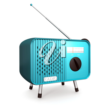 Royalty Free Clipart Image of an Old Radio