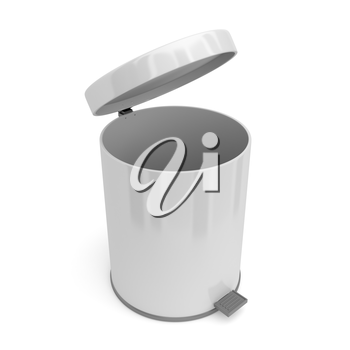 Open pedal bin, 3d rendered image