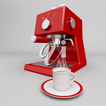 Royalty Free Clipart Image of an Espresso Machine