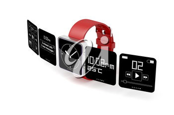 Royalty Free Clipart Image of a Smart Watch