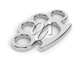 Brass knuckles on white background