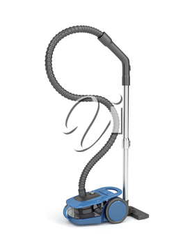 Bagless vacuum cleaner on white background