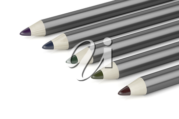 Close-up of eye pencils with different colors