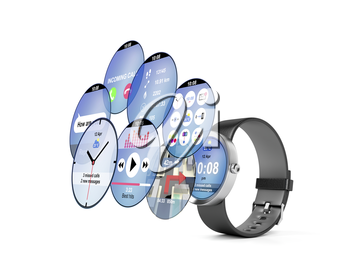 Smart watch with different interfaces and apps