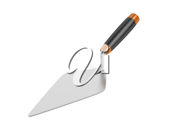 Construction trowel on white background
