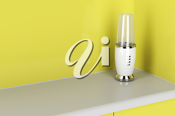Modern electric blender in the kitchen